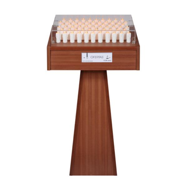 Lampadário-Madeira-de-63-velas