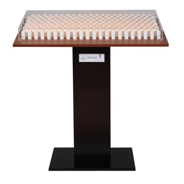 Lampadário-metálico-eletrónico-de-215-velas