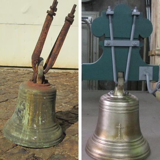 Limpeza e recuperação de sino de igreja